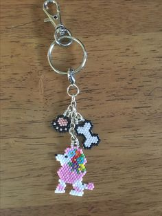 Poodle key chain