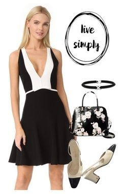 """""""dress"""" by masayuki4499 ❤ liked on Polyvore featuring Giambattista Valli, Chanel, Kate Spade and Alor"""