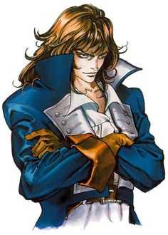 View an image titled 'Richter Belmont Portrait Art' in our Castlevania: Symphony of the Night art gallery featuring official character designs, concept art, and promo pictures. Belmont Castlevania, Castlevania Dracula, Castlevania Anime, Game Character Design, Character Art, Character Portraits, Castlevania Wallpaper, Super Metroid, Manga Anime