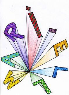 Middle School Art Projects, Classroom Art Projects, Art Classroom, Perspective Drawing Lessons, Perspective Art, 8th Grade Art, Creation Art, Ecole Art, Math Art