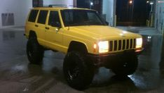 Image result for yellow jeep xj