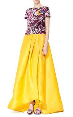 Silk Gazar Ball Skirt by Monique Lhuillier for Preorder on Moda Operandi