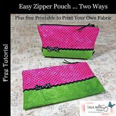 Free Sewing Pattern: Easy Zipper Pouch