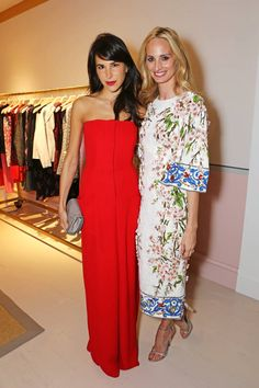 Caroline Sieber and Lauren Santo Domingo. See who from the fashion set was spotted at the chicest parties during London Fashion Week.