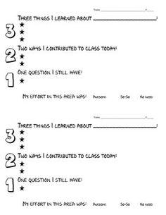 Exit Ticket Template  Teaching Finds     Ticket
