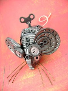 Squ33x No.2 Polymer Clay Industrial Steampunk by monsterkookies