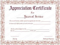 Sample of years of service award certificate yearsofserviceaward take the time to download this years of service certificate template today and show your employees yadclub Gallery