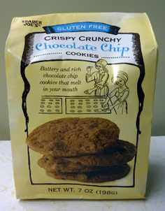 1 2 or 4 Trader Joe Gluten Free Crispy Crunchy Chocolate Chip Cookies 7 oz Rich Gluten Free Chocolate Chip Cookies, Gluten Free Cookies, My Favorite Food, Favorite Recipes, Favorite Things, Cupcake Mix, Allergy Free Recipes, Foods With Gluten, Trader Joes