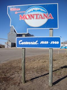 Welcome to Montana Sign (Westby, Montana) by courthouselover, via Flickr