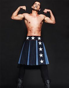 Sean O'Pry in a Givenchy skirt, for Dansk Mag. This Givenchy collection is entirely too formal for me, but the things they do with men's skirts are fairly interesting.