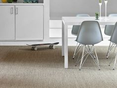 Find out the benefits of buying natural flooring. A sustainable alternative to wood and stone that's practical, long lasting and cost effective Sisal Carpet, Wool Carpet, Rugs On Carpet, Carpets, Alternative Flooring, Natural Flooring, Dining Room, Dining Table, Dreaming Of You