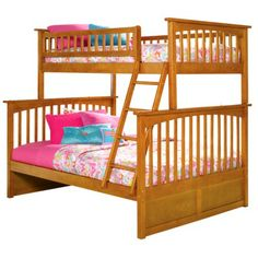Columbia Twin Over Full Bunk Bed - Caramel Latte