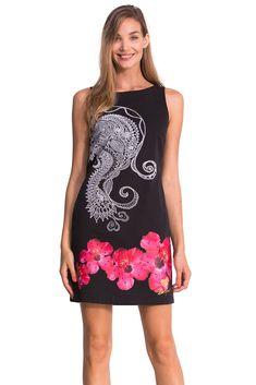 79ffe06cef8 Desigual Luna - Robe - Taille empire - Imprimé - Sans manche - Femme -  Blanc (Blanco) - FR  36 (Taille fabricant  36)  Amazon.fr  Vêtements et  accessoires