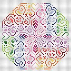 hama, perler beads, or cross stitch design pattern Biscornu Cross Stitch, Cross Stitch Charts, Cross Stitch Designs, Cross Stitch Embroidery, Cross Stitch Patterns, Beading Patterns, Embroidery Patterns, Fuse Beads, Hama Beads