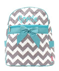 ManyColors! Monogrammed Backpack, Personalized Backpack, Chevron ...