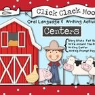 CLicK CLacK MoO! Felt Figures, Story Sticks, Retell, Write Around the Room and Writing Prompts including Story Elements! $