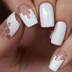 white-nails-designs-negative-space-lace Gel Nail Art Polish Trends Part five 2018 Nail Art Polish Trends Gel Nail Designs 2018 Gel Nail Art 2018 White Glitter Nails, Glittery Nails, White Nail Art, Gel Nail Polish Colors, Best Nail Polish, Gel Nail Art, Gel Polish, Nail Art Designs, White Nail Designs