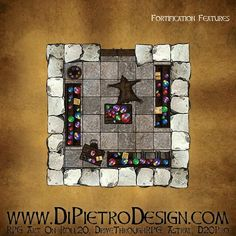 Dungeons By Dan - RPG Artwork for VTT and tabletop games Rpg Map, Dungeon Tiles, D 20, Fantasy Rpg, Tabletop Games, Me On A Map, Games To Play, How To Draw Hands, Creative
