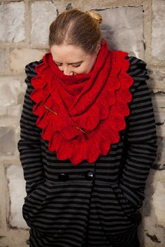 Ravelry: Phoenix pattern by Aoibhe Ni, A unique tunisian-lace surface cabled shawl, cozy, drapey and with a flamey, ruffled edge.