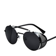 6ced58db5c242 Brand designer sunglasses Side Visor Circle Lens Round sun glasses women  men retro vintage glasses oculos goggles 056