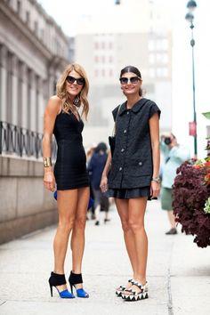 double trouble. AdR & Gio in NYC. #AnnaDelloRusso #GiovannaBattaglia