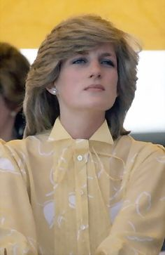 March 21, 1983: Princess Diana at the St John's Ambulance Headquarters, Alice Springs, Australia.