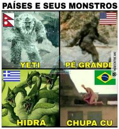 Monstros ao redor do mundo