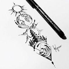 Resultado de imagen de 4 elements earth tattoo