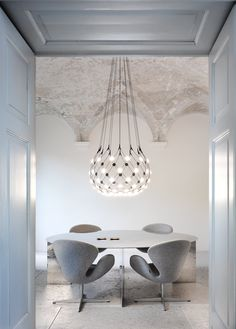 Luceplan hanglamp D86pi. Mesh Medium door Francisco Gomez Paz | www.designlinq.nl #mesh #luceplan #designverlichting #vergaderen #kantoorinrichting #designlinq