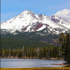 Snow capped Broken Top mountain in the Cascade Range of Central Oregon. ------- @ seafire55