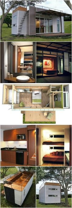 Beautifully Upcycled Shipping Container Tiny House by Cubica Architects - Cubica Architects in Costa Rica have started a new movement in their community with the purpose of providing sustainable and efficient housing to those less fortunate. Their method of achieving that goal is by repurposing shipping containers into fully functional 160 square foot modern homes.
