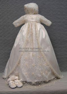 4246: Girls' 100% Silk Christening Gown