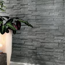 TREK (Brick in Silver Grey) by Atlas Concorde - three-dimensional porcelain wall tiles w/ a natural slate look 3d Tiles, Ceramic Wall Tiles, Porcelain Tile, Concorde, Stone Facade, Tile Suppliers, Atlas, Wall And Floor Tiles, Grey Stone