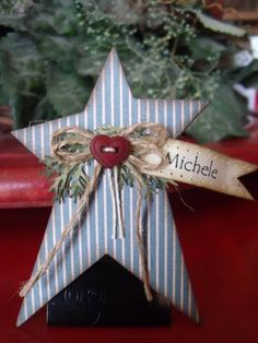 Christmas rustic star tag by mitchygitchygoomy