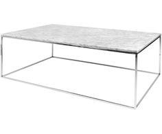 Machen Sie Ihr Wohnzimmer mit Couchtisch Gleam mit einer Tischplatte aus weißem Marmor zur Wohlfühloase. Entdecken Sie weitere Möbel auf >> WestwingNow.