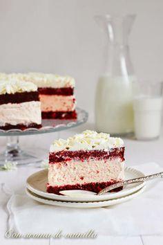 Tarta red velvet helada (con helado de queso)
