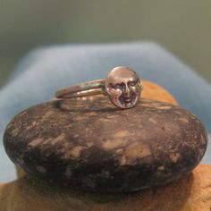 Man in the Moon Ring Sterling Silver Steampunk by JJDLJewelryArt, $42.00