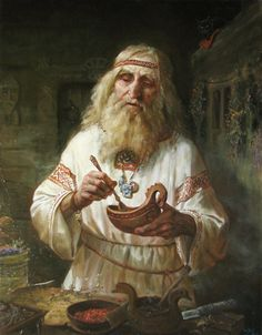 """Herbalist"" by Russian artist Andrey Shishkin."