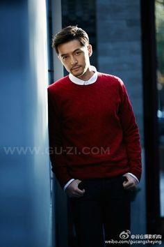 | Hugh Hu  胡歌 |  Vogue Magazine Hu Ge, Cat Dad, Vogue Magazine, Hottest Models, Gorgeous Men, Korean Actors, Men Sweater, Handsome, Celebs