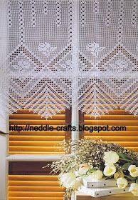 شغل ابره NEEDLE CRAFTS: ستاره شباك من الكروشيه-crochet curtain
