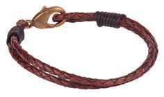 antelope beads: Make a round braided leather bracelet with coil knots