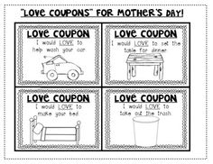 Mother's Day {Love Coupons} for students to give to mom, aunt or grandma! Several variations included for young/older students. $