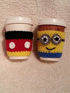 Mickey Mouse and Minion cozy cup