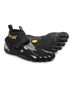 Take a look at this Black & Silver Maiori Sneaker – Men by Vibram FiveFingers on #zulily today! $60