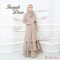 Rasa tak sabar nak tunggu pertengahan bulan 8! Nak release Inayah edisi ke 3 ni. Kak Ros belanje dulu ye ape istimewanya Inayah Dress ni  Nak tak? . www.byfatinsuhana.com.my whatsapp: 0194137334 Niqab Fashion, Fashion Wear, Modest Fashion, Fashion Dresses, Kebaya Hijab, Hijab Dress, Casual Hijab Outfit, Hijab Chic, Cheap Short Prom Dresses