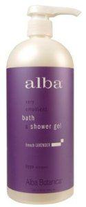 Bath & Shower Gel - French Lavender, 32 oz ( Multi-Pack) by Alba. $39.19. TRIPLE VALUE PACK! You are buying THREE of Bath & Shower Gel - French Lavender, 32 oz. French Lavender Body Bath. Quantity: MULTI VALUE PACK! You are buying Description: BODY BATH,FRENCH LAVENDER Unit Size: 32 OZ Brand: ALBA BOTANICA. Bath & Shower Gel - French Lavender, 32 oz ( Multi-Pack). Save 24% Off!