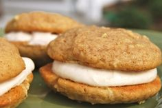 Apple Whoopie Pies with Cinnamon Cream Cheese Frosting - Macaroni and Cheesecake