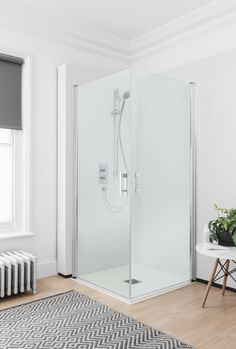 The new range of 'Click' shower enclosures offers innovative design in a contemporary, streamlined finish - Simpsons CLICK Easy Access Double Hinged Door. http://www.simpsons-enclosures.co.uk/product/simpsons-shower-enclosures-click/click-easy-access-double-hinged-door/