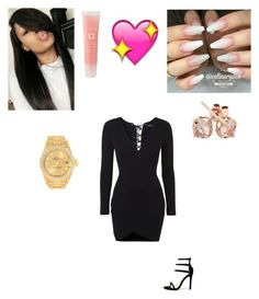 """Untitled #407"" by lailazariel ❤ liked on Polyvore featuring Topshop, Lancôme, Liliana, Rolex and Reeds Jewelers"