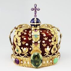 The Crowns of the King & Queen of Norway, last used at the coronation of King Haakon VII and Queen Maud in 1906
